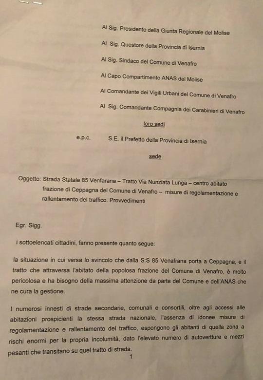 Ceppagna – Strade sicure, sottoscritta petizione popolare per sollecitare un intervento urgente delle istituzioni