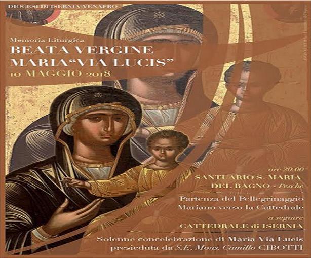Santa Maria Del Bagno Pesche.Futuromolise Pellegrinaggio A Piedi Con Maria La Diocesi Si